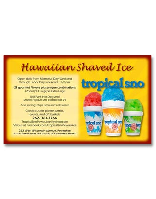Magazine Advertisement for Tropical Sno